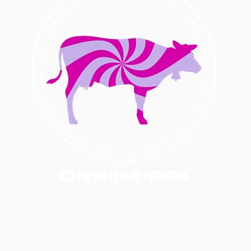 CHESHIRE MOO t shirt alternative psychedellic cow purple pink by alpenmama