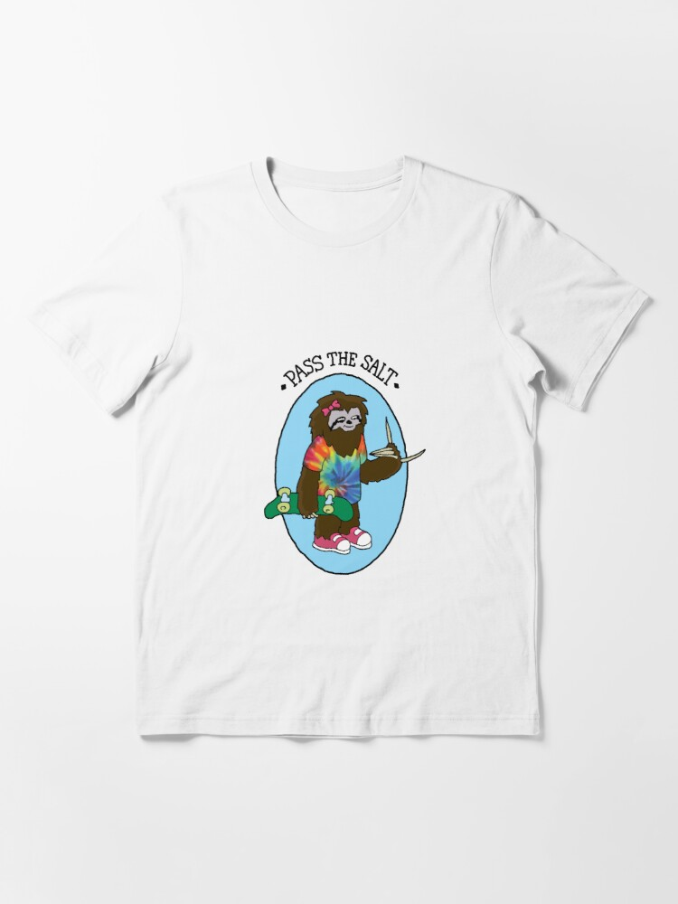 Alternate view of Pass The Salt - Stoner Sloth Essential T-Shirt