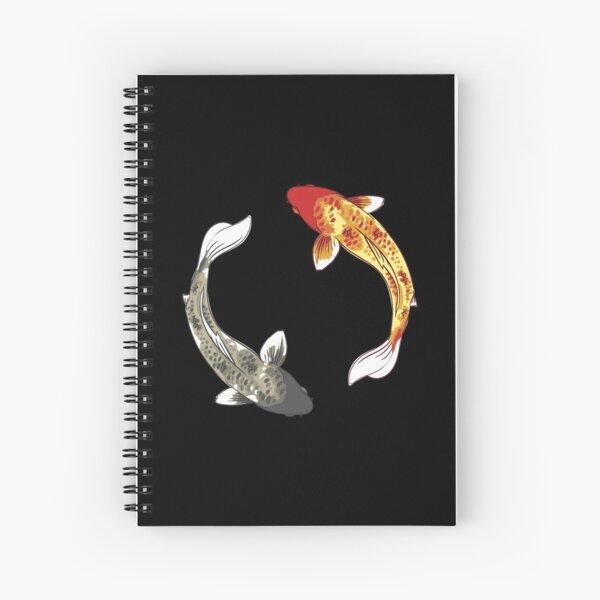 Poisson Koi - Yin Yang Cahier à spirale