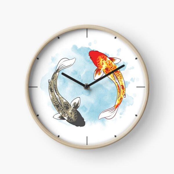 Koi Fish - Yin Yang Clock