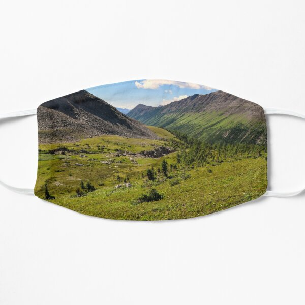 Summer Hike in the Mountains. Flat Mask