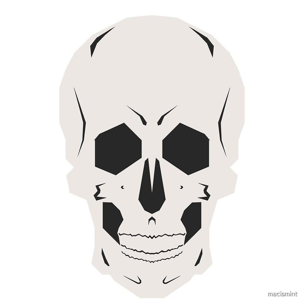 Simplistic Symmetrical Skull Design by macismint