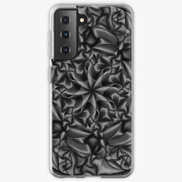 Monochromatic gray illusion pattern  Samsung Galaxy Soft Case