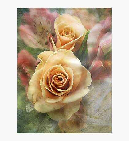 Tangerine Roses Fotodruck