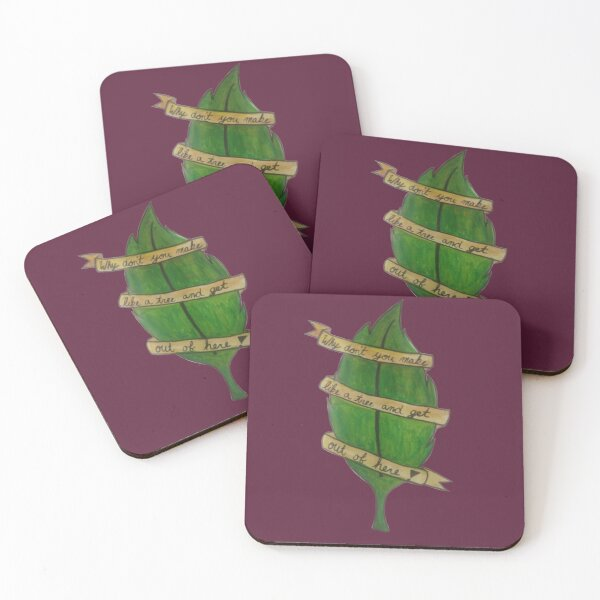 Make like a Tree and Leave! Coasters (Set of 4)
