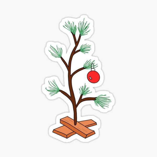 Charlie Brown Christmas Tree Sticker