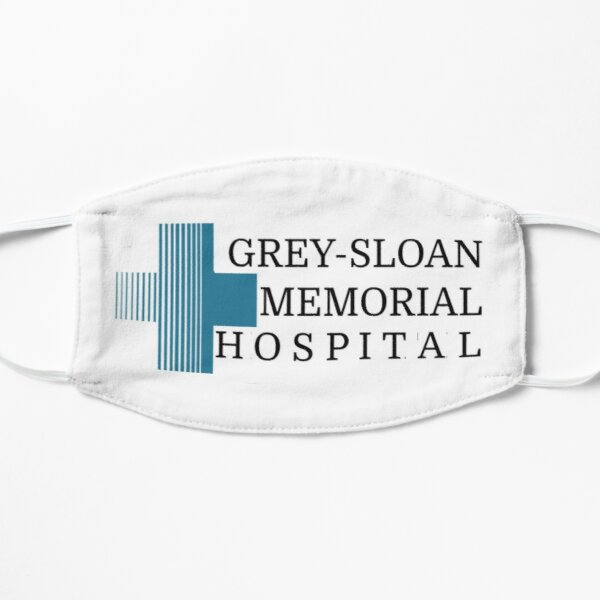 Grey's anatomy hospital logo  Flat Mask