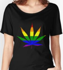 gay weed Women's Relaxed Fit T-Shirt
