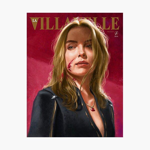 Villanelle Painted Portrait Photographic Print