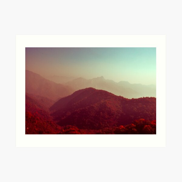 Crimson landscapes Art Print