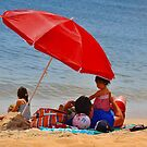 Red Umbrella....life's a beach!!! by Poete100