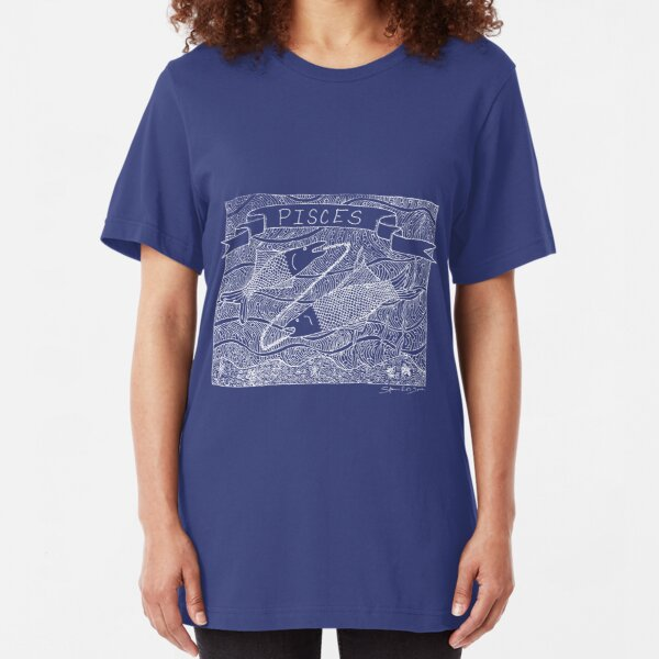Pisces - white Slim Fit T-Shirt