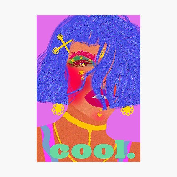 Cool Girl Series: Feeling Blue Photographic Print