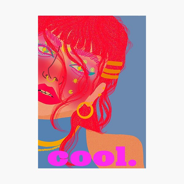 Cool Girl Series: Feeling Pomelo Photographic Print