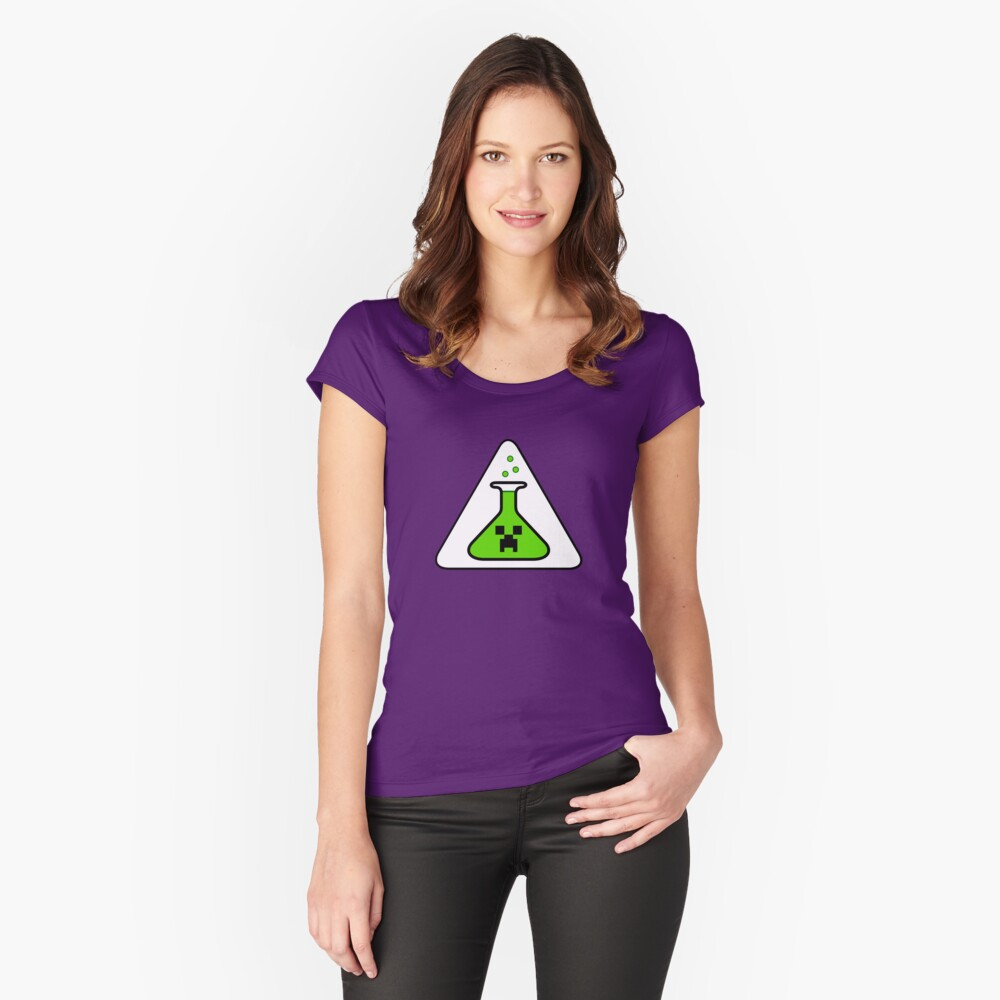 Creeper's Lab beaker Fitted Scoop T-Shirt