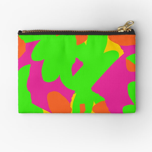 Sprouse inspired day glow print Zipper Pouch