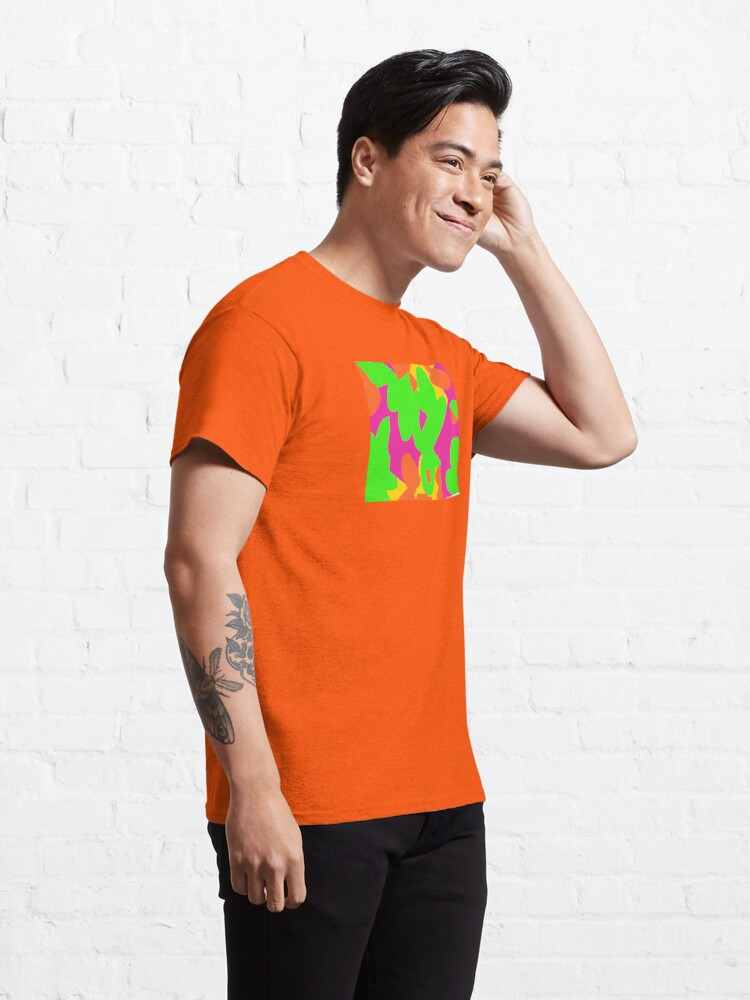 Alternate view of Sprouse inspired day glow print Classic T-Shirt