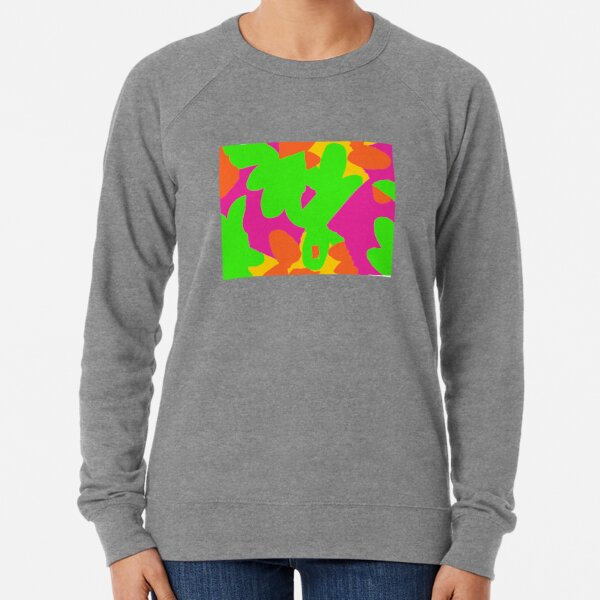 Sprouse inspired day glow print Lightweight Sweatshirt