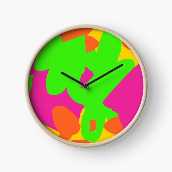 Sprouse inspired day glow print Clock