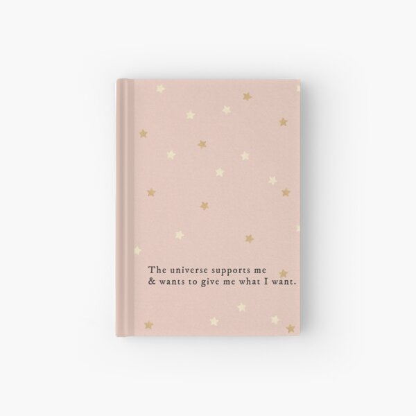 Pink Aesthetic Manifestation Journal with Stars Hardcover Journal