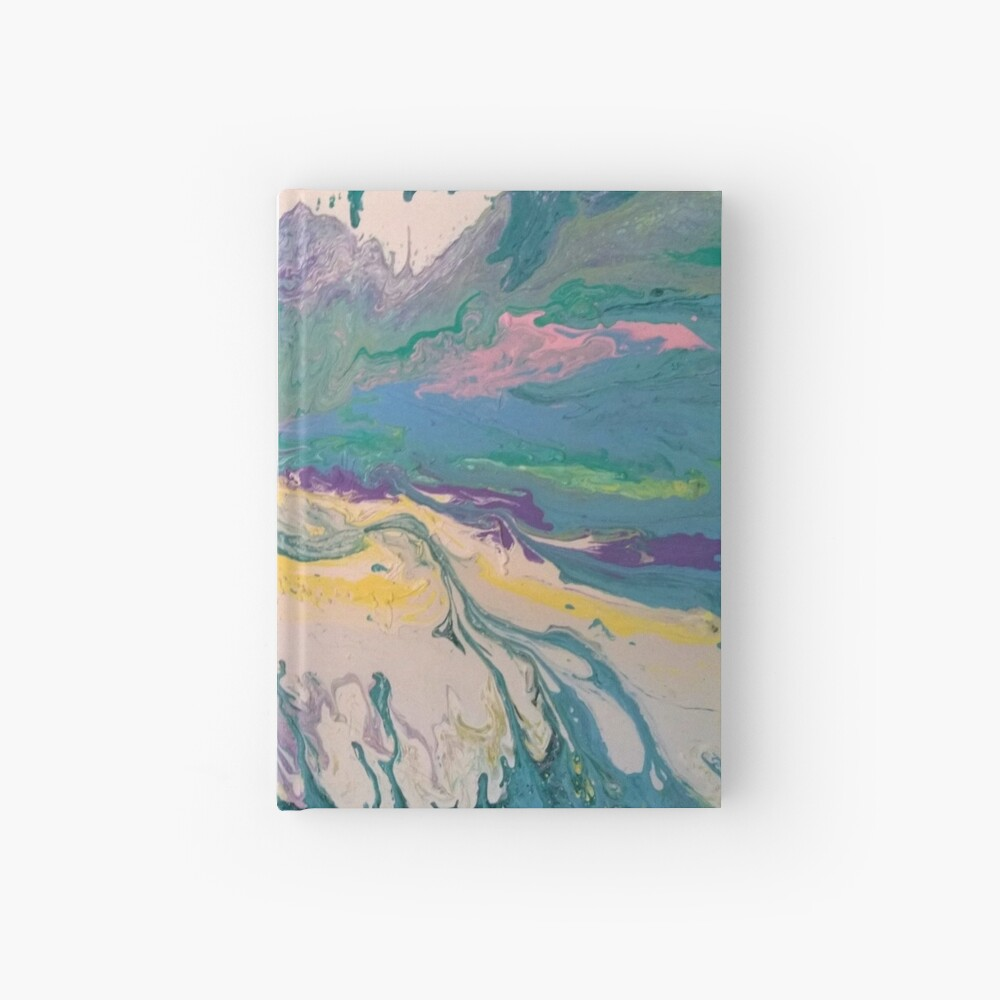 """Abstract Painting-Title """"South Beach Ocean Drive"""" Hardcover Journal"""