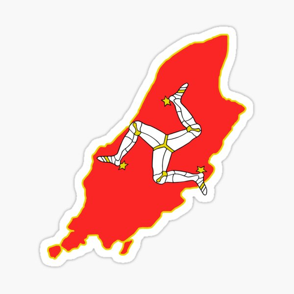 Isle Of Man Shirt, Sticker, Máscara Pegatina