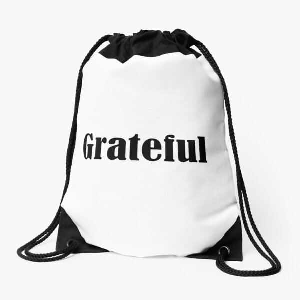 Law of Attraction - Grateful Drawstring Bag
