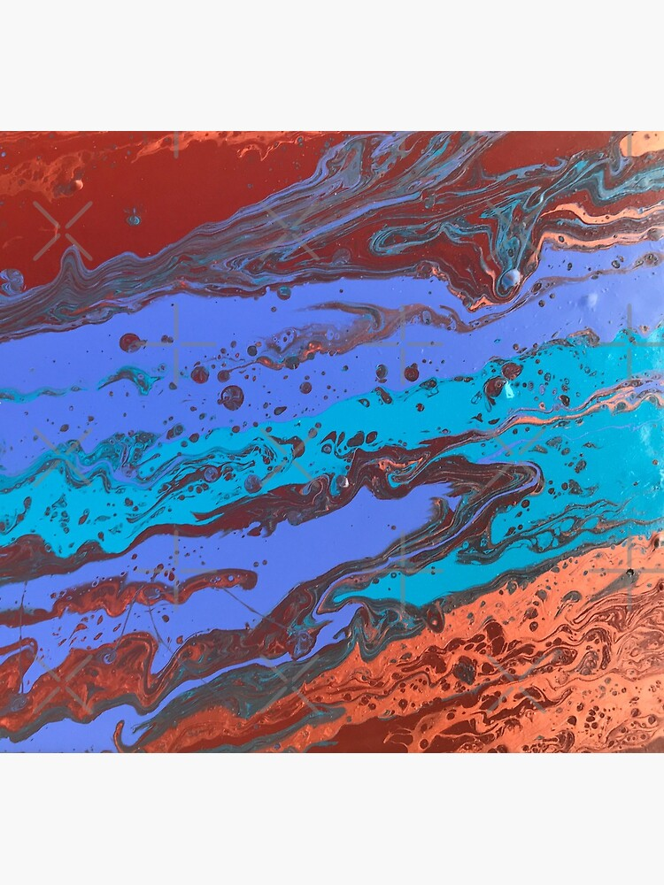 """Abstract Painting-Title """"Copper Creek Canyon""""  by Matlgirl"""