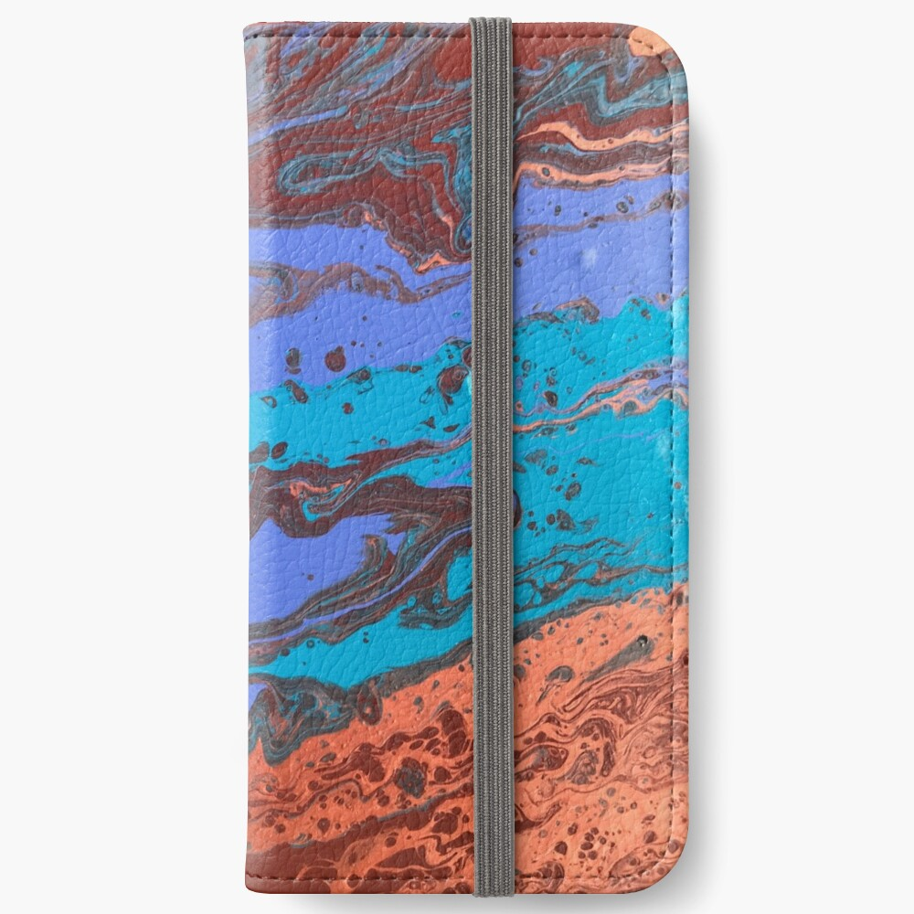 """Abstract Painting-Title """"Copper Creek Canyon""""  iPhone Wallet"""