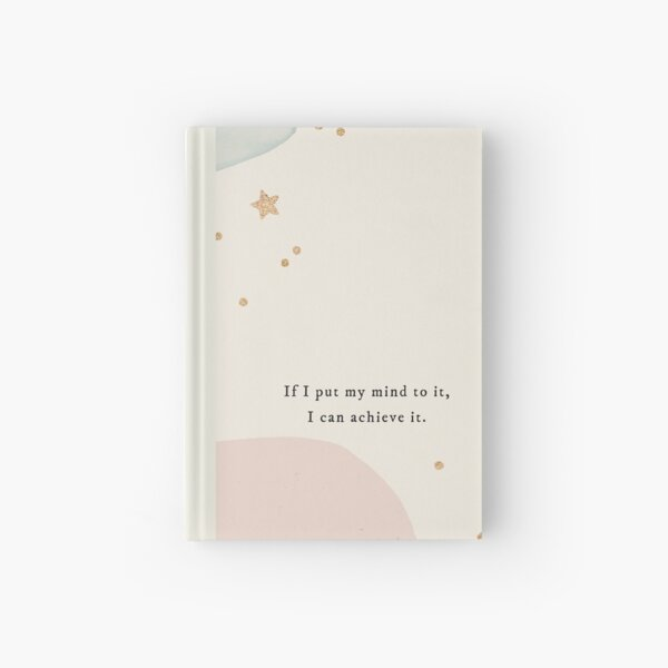 Aesthetic Manifestation Journal with Stars and Abstract Pattern Hardcover Journal