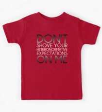 Heteronormative Expectations (greyscale) Kids Clothes