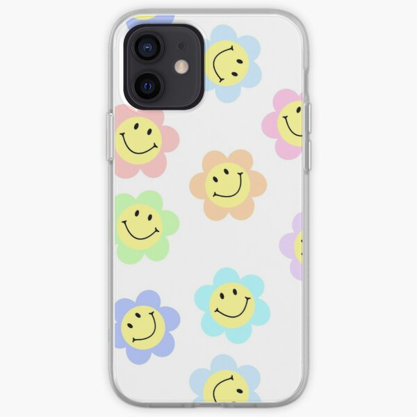 Pack de fleurs pastel Smiley Coque souple iPhone