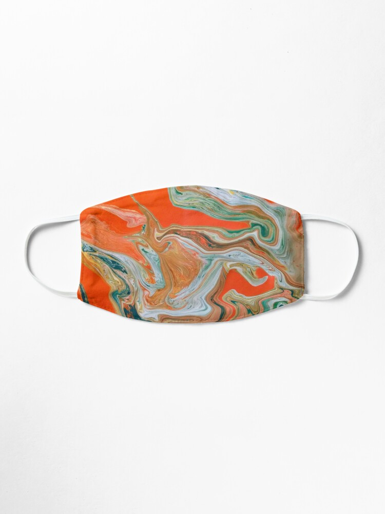 "Alternate view of Abstract Art- Title ""Orange Granite"" Mask"