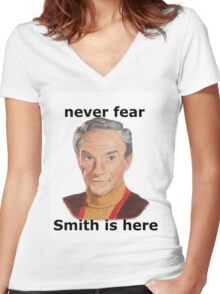 Never fear Smith is here.. Women's Fitted V-Neck T-Shirt