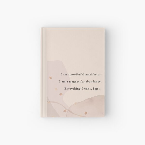 Aesthetic Manifestation Journal with Stars   I am a powerful manifestor Hardcover Journal