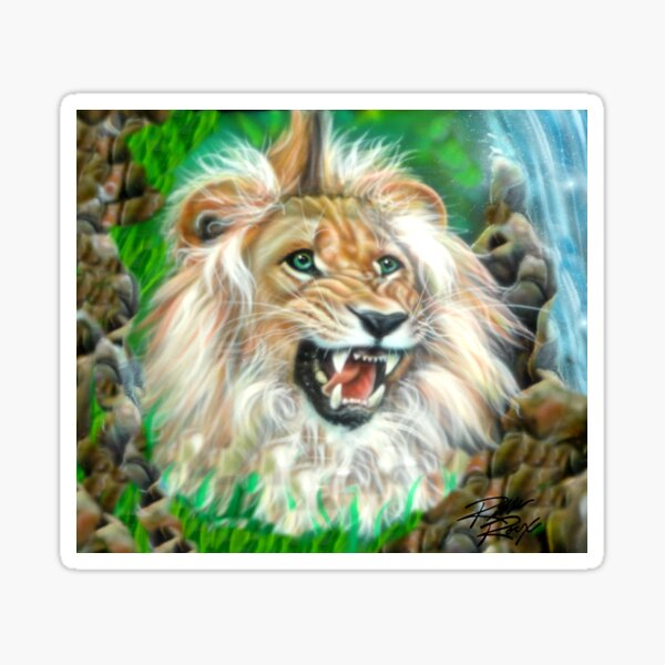 The Lion is the King of the Jungle Sticker