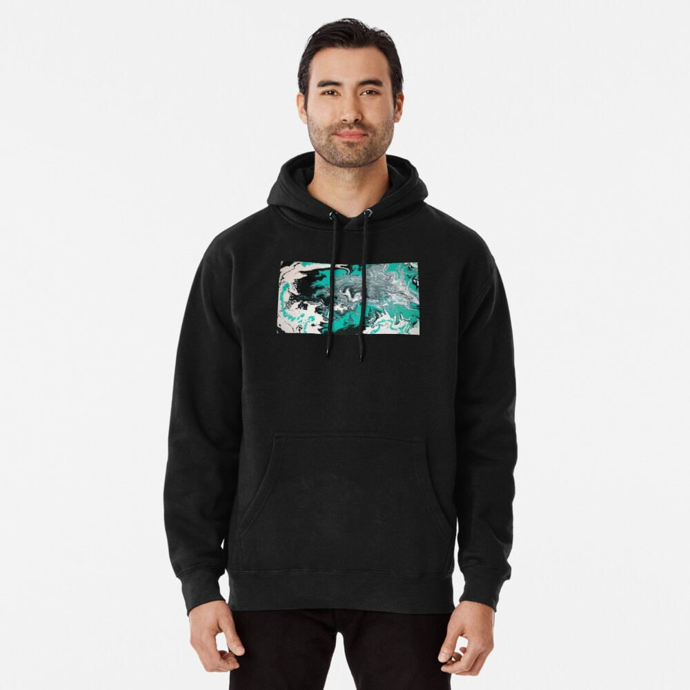 """Abstract Painting- title """"Turquoise Dreamsicle"""" Pullover Hoodie"""