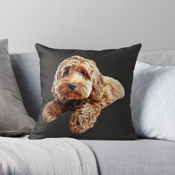 Doodle Cockerpoo Cockapoo Spoodle Cute Puppy Dog Throw Pillow