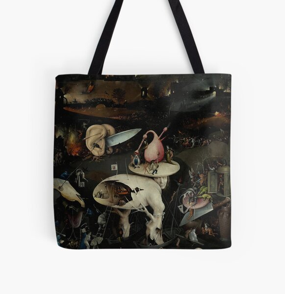 Hell, The Garden of Earthly Delights - Hieronymus Bosch All Over Print Tote Bag