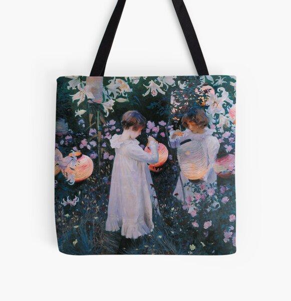 John Singer Sargent - Carnation, Lily, Lily, Rose All Over Print Tote Bag