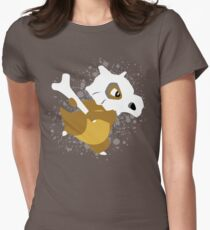 Cubone Splatter Womens Fitted T-Shirt