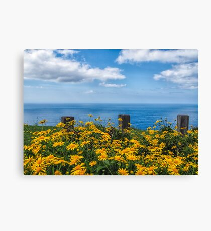 Golden Blue Canvas Print