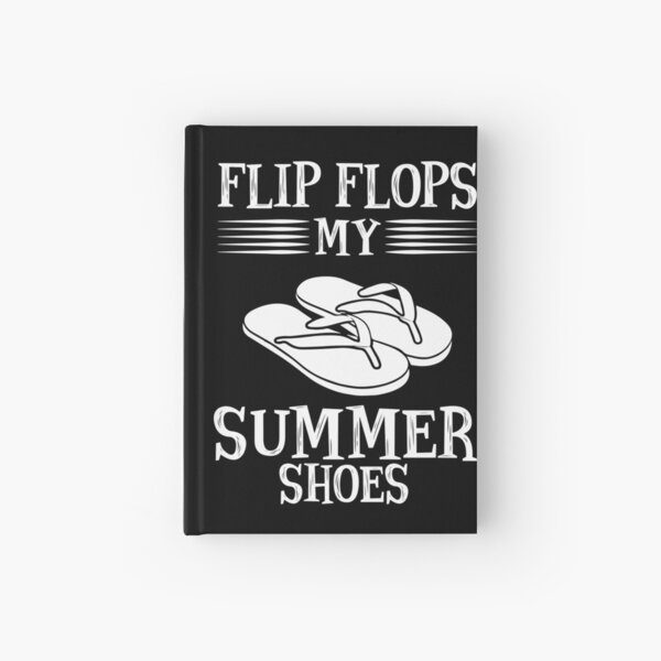 Flip flop summer shoes sun beach Hardcover Journal