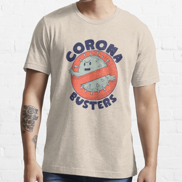 Corona Busters Logo T Shirt Mask for Frontline Virus Covid19 Fighters Healthcare Hero Workers Survived ICU Nurse Doctors MD Medical Staff Self Isolating First Responders Coronabusters Volunteer Essential T-Shirt