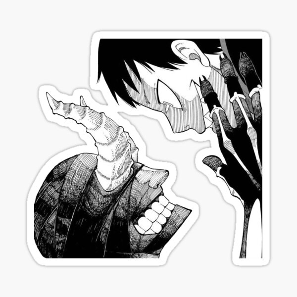 Fire Force - Shinra Kusakabe Manga Cap Sticker