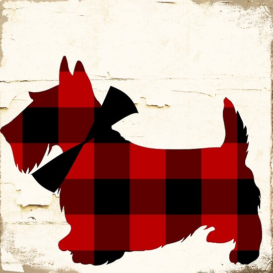 Scottish Terrier Plaid by mindydidit