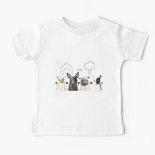 Bark  side of dogs funny tees Baby T-Shirt