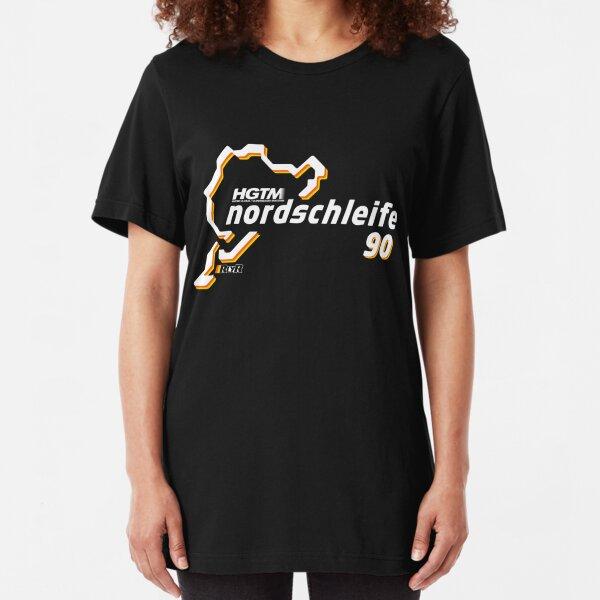 HGTM Nordschleife 90 logo black Slim Fit T-Shirt