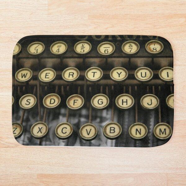 Vintage Typewriter Bath Mat