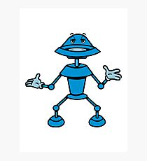 Robot funny cool toys funny comic Photographic Print